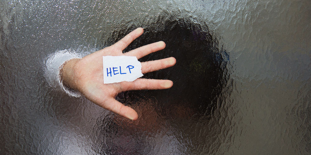An abused individual asking for help.