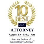 10 Best Attorney Client Satisfaction by American Institute of Personal Injury Attorneys